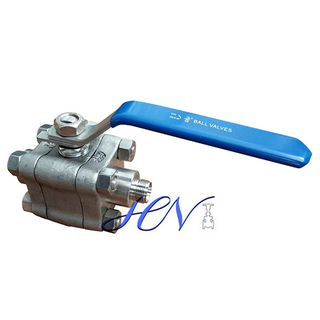 Side Entry Forged SS 316 Threaded Ends Floating Ball Valve