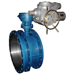 Double Flanged Electric Operated Double Eccentric Butterfly Valve