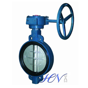 Cast Iron Wafer Type Concentric Worm Gear Operated Butterfly Valve