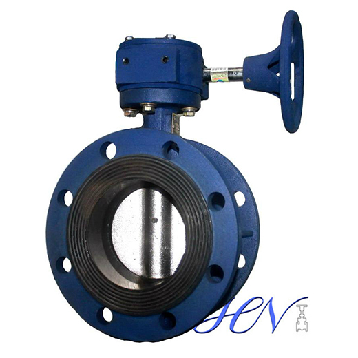 Flange Type Concentric Cast Iron Soft Seated Butterfly Valve