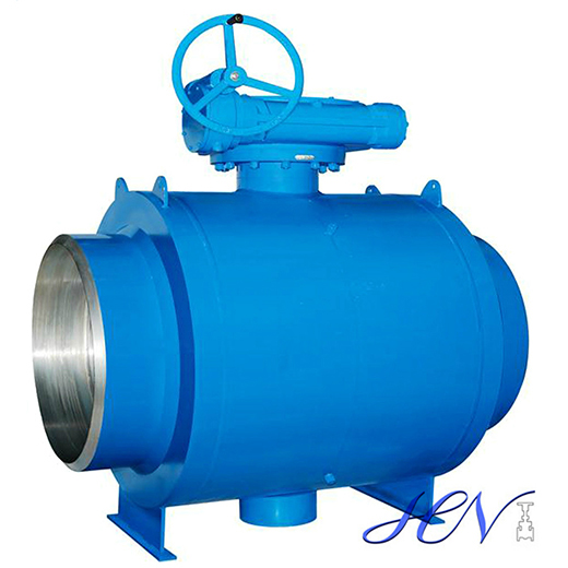 Trunnion mounted fully welded ball valve