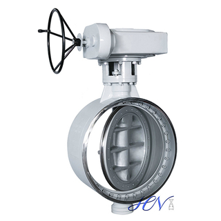 Butt Welding Metal Seated Bidirectional Seal Triple Eccentric Butterfly Valve