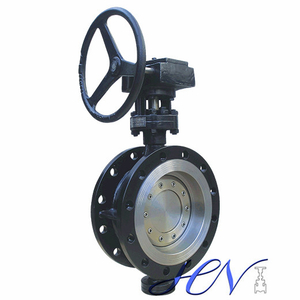 Double Flanged Gear Type Metal Seated Tricentric Butterfly Valve