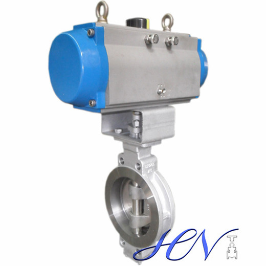 Pneumatic Wafer Type Double Eccentric Butterfly Valve