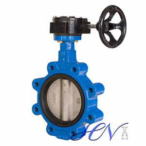 Gear Type Fully Lugged Cast Iron Centric Butterfly Valve