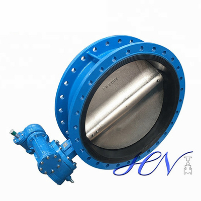 Industrial Double Flanged Cast Iron Gear Operated Centric Butterfly Valve
