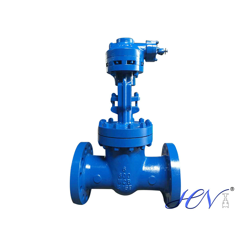 High pressure carbo steel gate valve installation