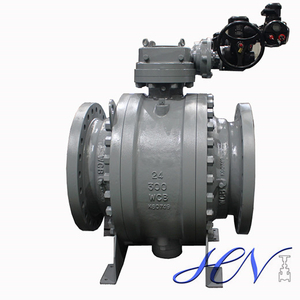 Motorized Cast Steel Fire Safe Trunnion Mounted Ball Valve