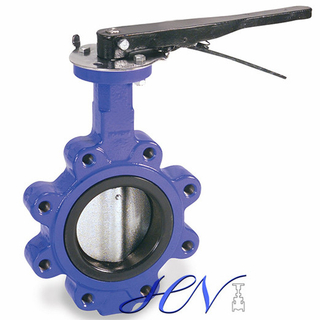 Manual Cast Iron Soft Seated Lug Type Centric Butterfly Valve