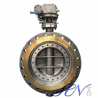 Flange Type Gear Operated Carbon Steel Industrial Triple Eccentric Butterfly Valve
