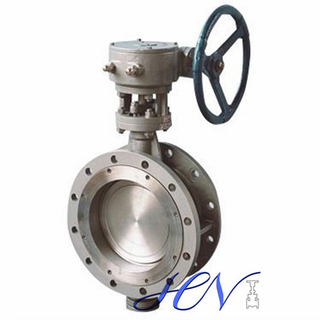 Zero Leakage Industrial Flange Type Double Eccentric Butterfly Valve
