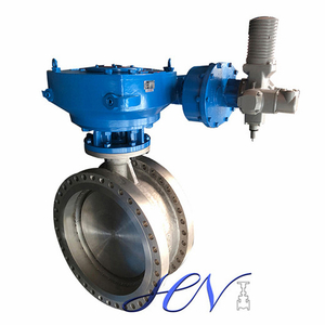 Electrically Operated Double Flanged Carbon Steel Double Offset Butterfly Valve