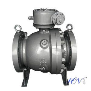 What are the material of trunnion ball valve?