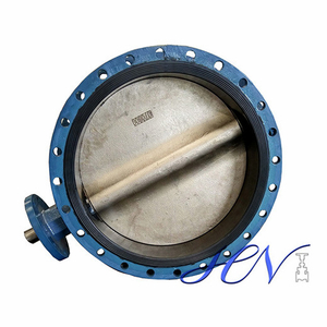 Ductile Iron Cast Body Flanged Soft Seated Centric Butterfly Valve