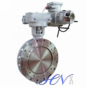 Electrically Operated Double Flanged Pressure Drop Triple Eccentric Butterfly Valve