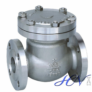 Gas Line Stainless Steel Low Pressure Flanged Swing Check Valve