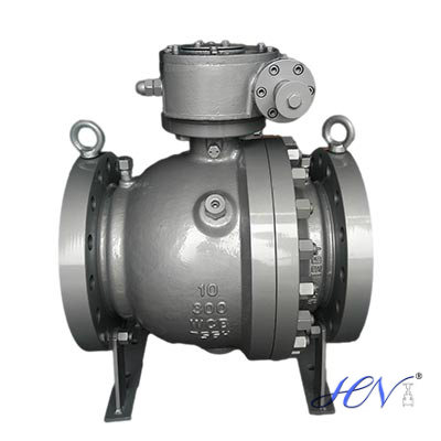 What are the material of trunnion ball valve