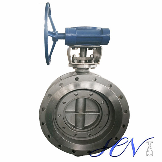 Gear Type Carbon Steel Flange Flow Control Tricentric Butterfly Valve