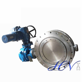 Electric Operated Stainless Steel Flange Type Triple Offset Butterfly Valve