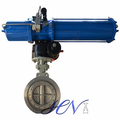 Pneumatic Industrial Wafer Double Eccentric Butterfly Valve With Tank