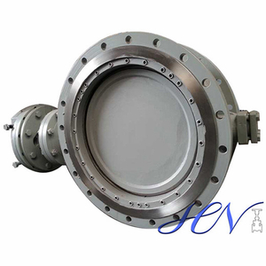 Gear Operated Flange Type Carbon Steel Triple Eccentric Butterfly Valve