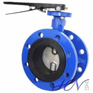 Double Flanged Manual Industrial Centric Butterfly Valve