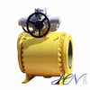 Industrial Low Temperature Forged Steel Electric Trunnion Mounted Ball Valve