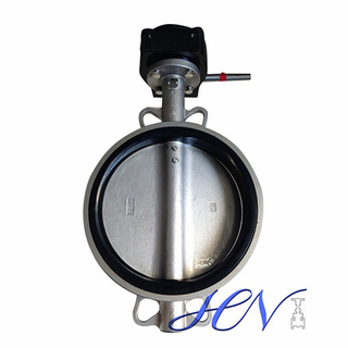 Flow Control Cast Iron Wafer Type Industrial Centric Butterfly Valve