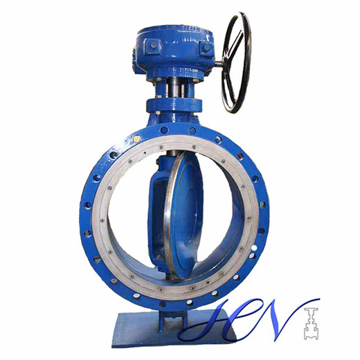 Steam Flange Type Carbon Steel Metal Seated Double Eccentric Butterfly Valve