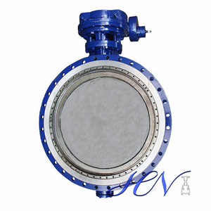 Hard Sealing Double Flanged Industrial Double Offset Butterfly Valve